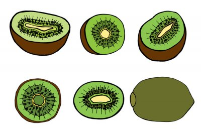 Nálepka ovoce kiwi