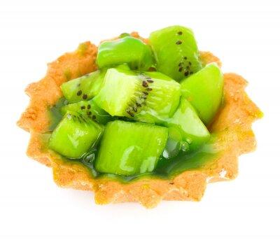 Nálepka Ovocný koláč s kiwi izolovaných na bílém