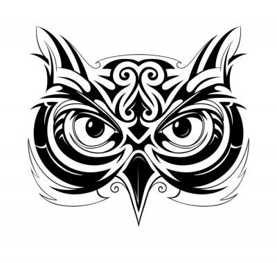 Nálepka Owl hlava tetování
