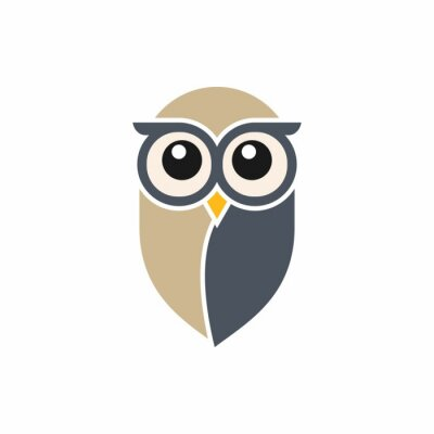 Nálepka Owl Logo Template