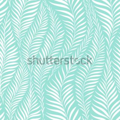 Nálepka Palmový list vzor. Vektorové ilustrace. Dekorační prvek