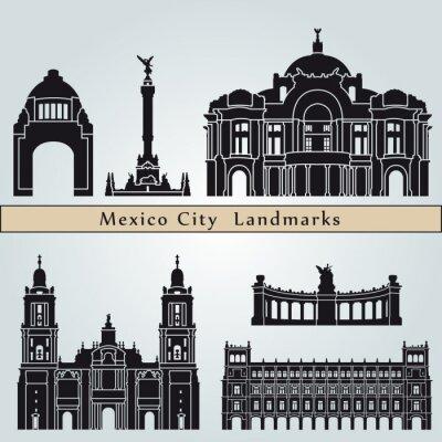 Nálepka Památky a památky Mexico City