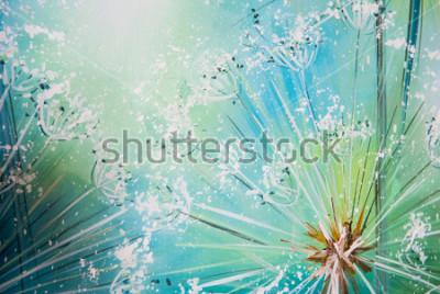 Nálepka Pampeliška na modrém pozadí