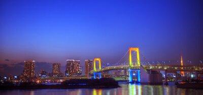 Nálepka Panaroma iluminovaných Tokyo