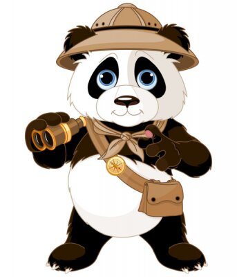 Nálepka Panda Safari Explorer