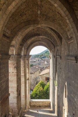 Nálepka Panoráma Gubbio v blízkosti Perugia (Itálie)