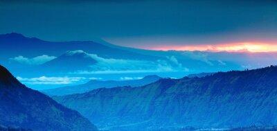 Nálepka panorama hor na horním pohledu, Blue Mountains