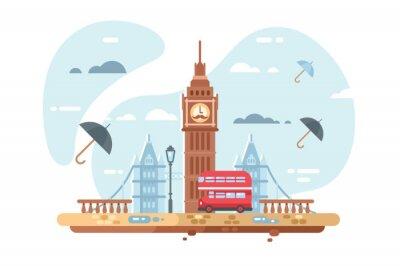 Nálepka Panorama města Londýn