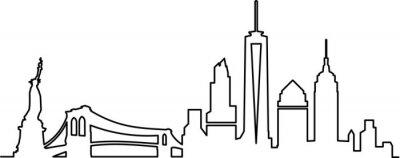 Nálepka Panorama New Yorku