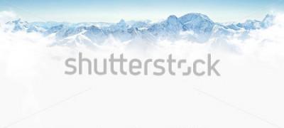 Nálepka Panorama zimních hor s kopiemi prostoru