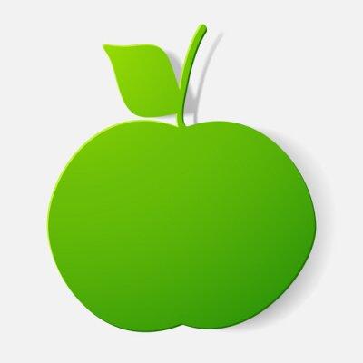 Nálepka Papírové zastřižené samolepky: ovoce, jablko