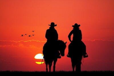 Nálepka pár na koni silueta