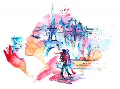 Nálepka Paříž
