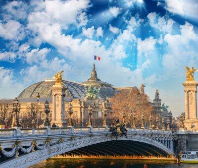Nálepka Paříž budov a památek