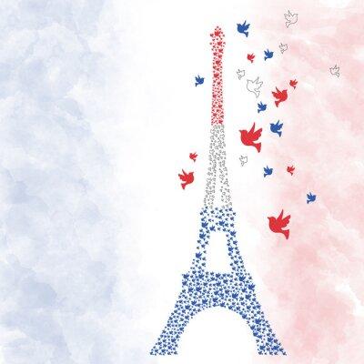Nálepka Paříž Eifel Turm