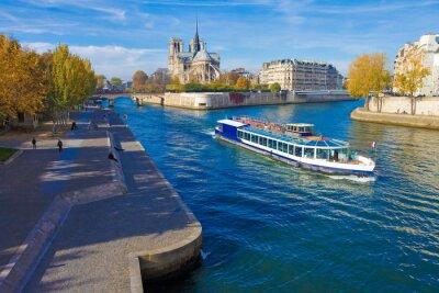 Nálepka Paříž, la Seine et Notre-Dame vu du Pont de la Tournelle