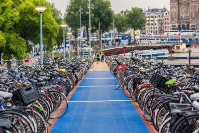Nálepka Parkování pro jízdní kola v Amsterdamu