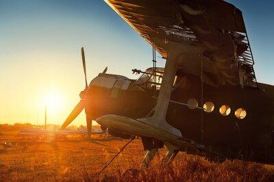 Nálepka Parkování retro letadla