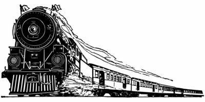 Nálepka Parní lokomotiva