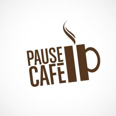 Nálepka pause café