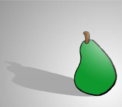 Nálepka pear draw