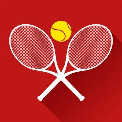 Nálepka pěkná ikona tenis
