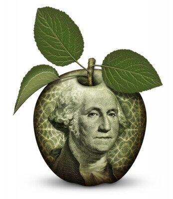 Nálepka Peníze Apple