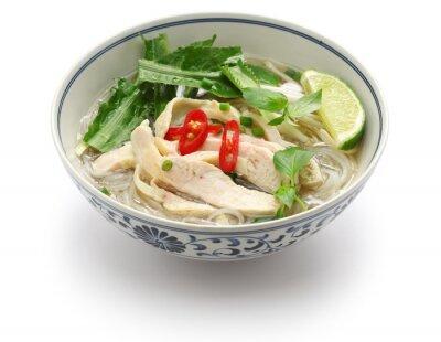 Nálepka pho ga, vietnamské rýže kuřecí nudlová polévka