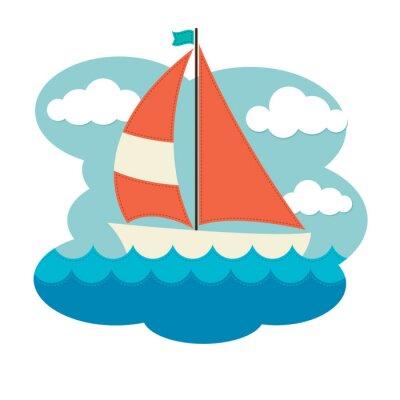 Nálepka Plachetnice na vlnách