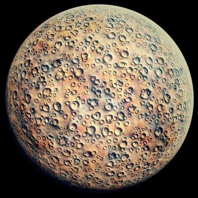 Nálepka Planet krátery na černém