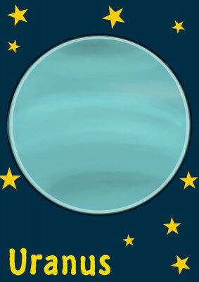 Nálepka Planeta Uran