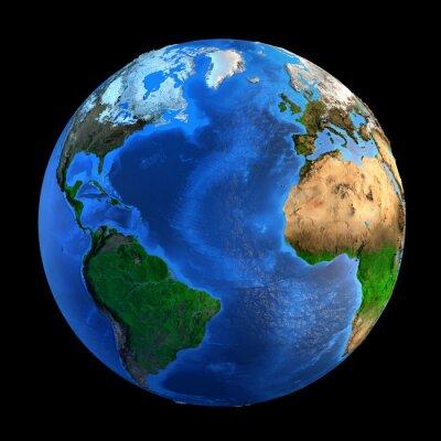 Nálepka Planeta Země tvary