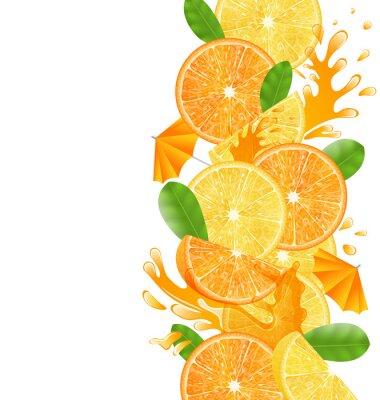 Nálepka Plátky pomeranče a citrony