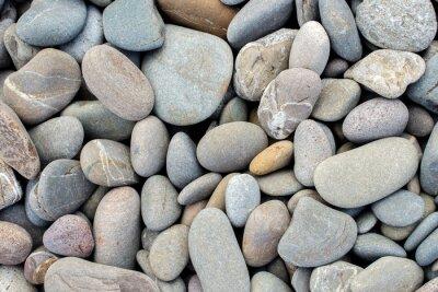 Nálepka pláž kameny pozadí