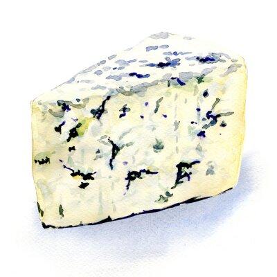 Nálepka Plísně lahodný sýr na bílém pozadí