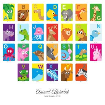 Nálepka Ploché Alphabet Animal