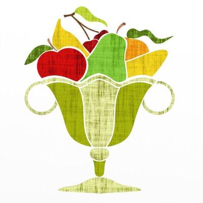 Nálepka pohár s ovocem