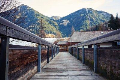 Nálepka Pohled na hory z mostu