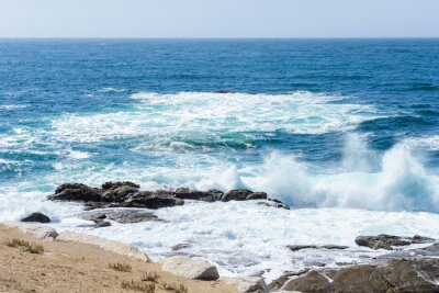 Nálepka pohled na surfování na moři