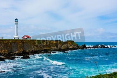 Nálepka Point Arena Lighthouse in California