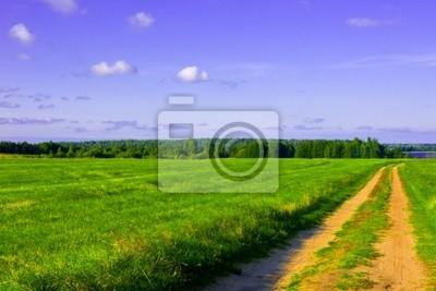 Pole, silnice a nebe
