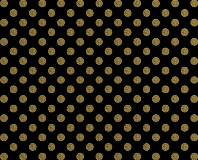 Nálepka Polka vzor zlatá tečka