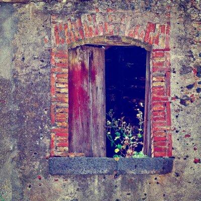 Nálepka Polorozpadlé domy