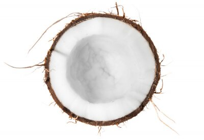 Nálepka Polovina z kokosového pohled shora