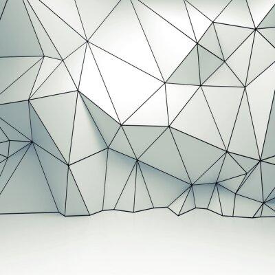 45d82a656b Polygonální 3d wireframe reliéfní vzor na zeď nálepky na notebook ...