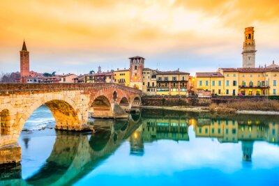 Nálepka Ponte di Pietra v italské Veroně