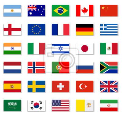 Nálepka Populární Flag Collection