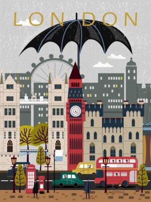 Nálepka poutavý Velká Británie cestovní plakát