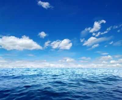 Nálepka Povrch Modré mořské vody