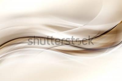 Nálepka Pozadí abstraktní hnědé vlny